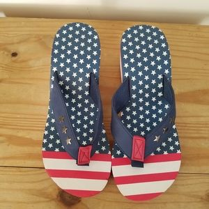 Wedge heel Flip Flops